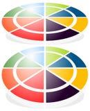 Значок кругового диаграмм, значок диаграммы Элемент для infographic дизайна иллюстрация вектора