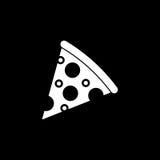 Значок куска пиццы твердый, элементы питья еды иллюстрация вектора