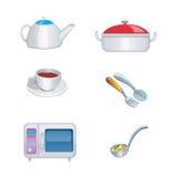 Значок кухни установленный Стоковое фото RF