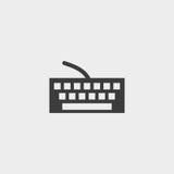 Значок клавиатуры в плоском дизайне в черном цвете Иллюстрация EPS10 вектора иллюстрация штока