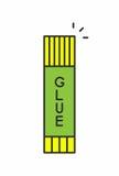 Значок клея Стоковое Фото