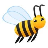 Значок летая пчелы, стиль мультфильма иллюстрация штока