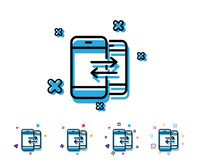 Значок линии связи телефона звонок входящий иллюстрация вектора