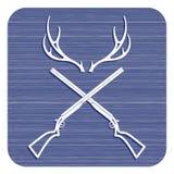 Значок логотипа клуба звероловства Стоковое Изображение RF