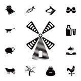 значок логотипа мельницы Детальный набор значков фермы Наградной качественный значок графического дизайна Один из значков собрани иллюстрация вектора