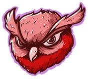 Значок логотипа сыча главный иллюстрация штока