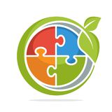 Значок логотипа с свежей идеей, концепцией решения иллюстрация штока