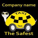 значок логотипа такси стикера Черепаха-такси самый безопасный Стоковое Изображение RF
