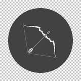 Значок лука и стрелы бесплатная иллюстрация
