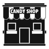 Значок магазина конфеты, простой стиль Стоковая Фотография RF