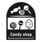 Значок магазина конфеты улицы, простой стиль иллюстрация вектора