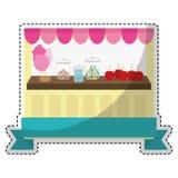 Значок магазина конфеты Стоковые Изображения RF