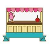 Значок магазина конфеты Стоковые Фото