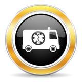 Значок машины скорой помощи Стоковое Изображение