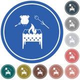 Значок медника, zephyr и цыпленка Иллюстрация штока