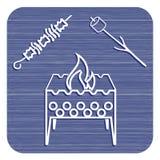 Значок медника, zephyr и kebab Стоковые Фотографии RF