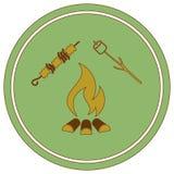 Значок медника, zephyr и kebab Бесплатная Иллюстрация