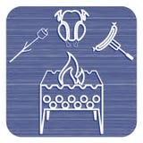 Значок медника, zephyr, цыпленка и сосиски Стоковое фото RF