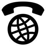 Значок международных телефонных разговоров всемирный Стоковое Фото
