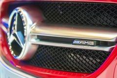 Значок Мерседес-Benz CLA45 AMG на Сингапуре Motorshow 2015 Стоковая Фотография