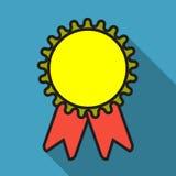 Значок медали награды Самый лучший символ гарантии Знак достижения победителя Стоковые Фото