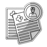 Значок медицинского заключения Стоковые Изображения