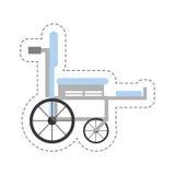 значок медицинского оборудования кресло-коляскы шаржа бесплатная иллюстрация