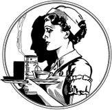 Значок медсестры иллюстрация вектора