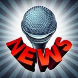 Значок микрофона новостей Стоковое Фото