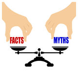 Значок мифов фактов Стоковая Фотография RF