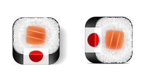 Значок мобильного телефона суш Иллюстрация искусства зажима вектора Стоковое Фото