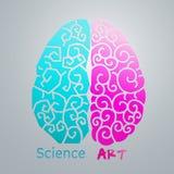 Значок мозга Стоковые Изображения