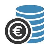 Значок монетки евро иллюстрация штока