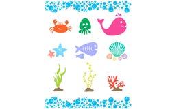 Значок морской жизни Стоковые Фото