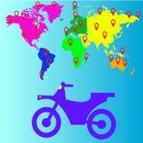 Значок мотоцикла перемещения, иллюстрация вектора Стоковое Изображение