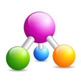 Значок молекулы дна Стоковое Изображение RF