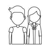 значок молодых пар счастливый Стоковое Изображение