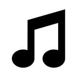 Значок музыки изолированный примечанием Стоковые Фото