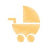 Значок младенца изолированный тележкой Стоковое фото RF
