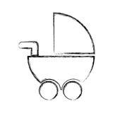 Значок младенца изолированный тележкой Стоковое Изображение RF