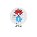 Значок награды медали самый лучший призовой иллюстрация вектора