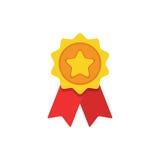 Значок награды плоский Иллюстрация концепции вектора для дизайна Стоковая Фотография