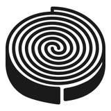 Значок нагревающего элемента, простой стиль иллюстрация вектора