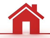 Значок недвижимости модельный Стоковые Изображения