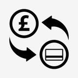 Значок новообращенного денег фунт Плоский стиль дизайна бесплатная иллюстрация