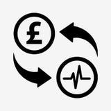 Значок новообращенного денег фунт Плоский стиль дизайна иллюстрация вектора