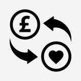 Значок новообращенного денег фунт Плоский стиль дизайна иллюстрация штока