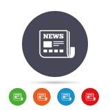 Значок новостей Знак газеты Символ средств массовой информации Стоковые Фотографии RF