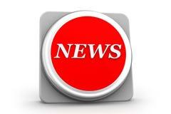 значок новостей 3d Стоковые Изображения