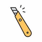 Значок ножа канцелярских принадлежностей Стоковые Изображения
